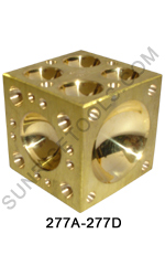 Doming Block Brass